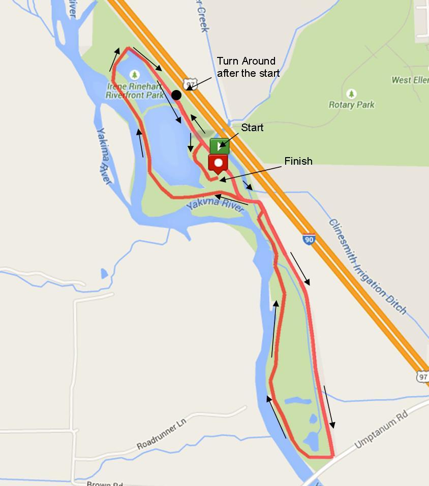 Carey Lake 5K Run Map