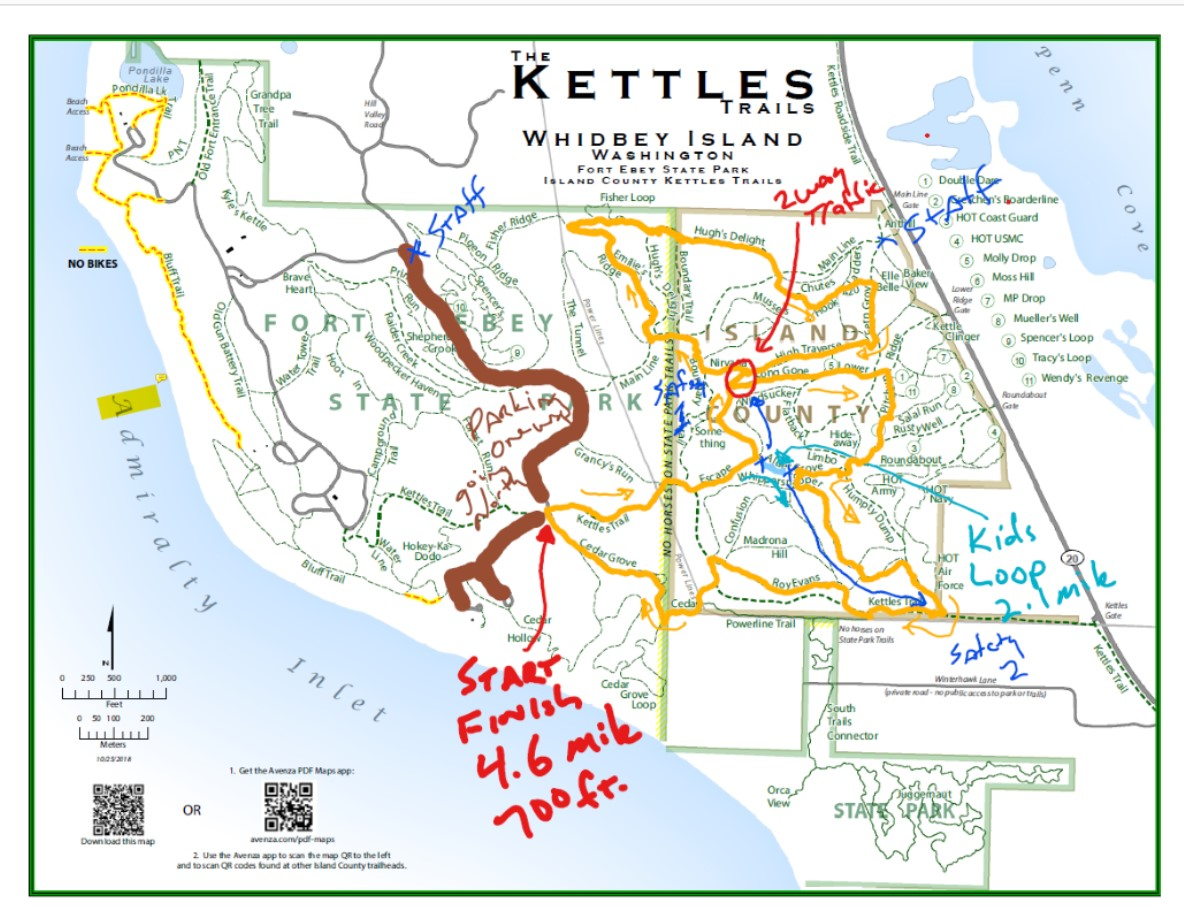 Cookin in the Kettles 2019 Course Map