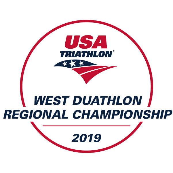 USAT West Regional Long Course Duathlon Championship Logo