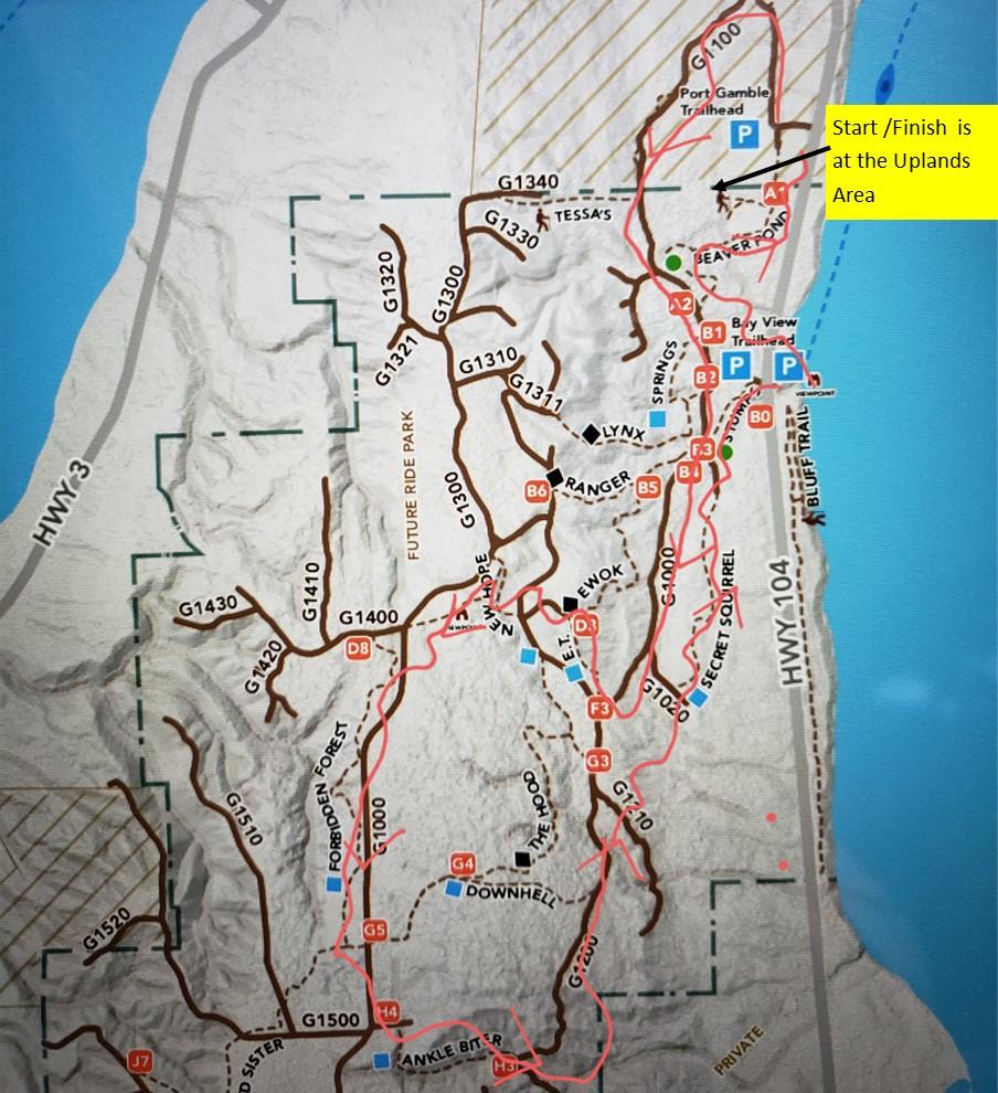 Port Gamble Course Map 2021
